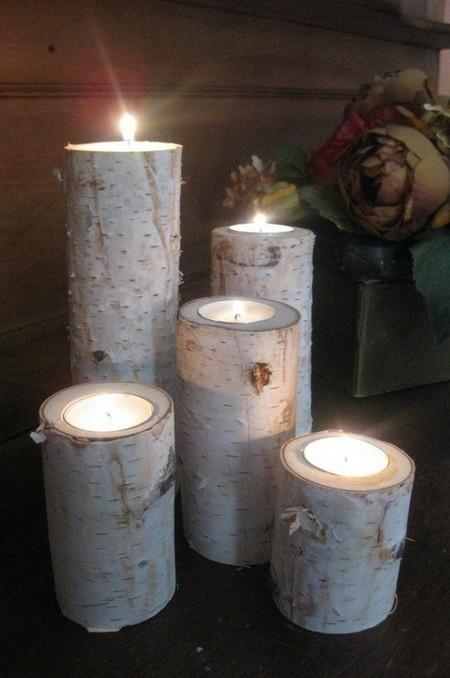 amazing christmas candles and decorations with them 4 20+ Ιδέες Χριστουγεννιάτικης διακόσμησης με κεριά & κηροπήγια