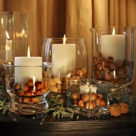 amazing christmas candles and decorations with them 5 20+ Ιδέες Χριστουγεννιάτικης διακόσμησης με κεριά & κηροπήγια
