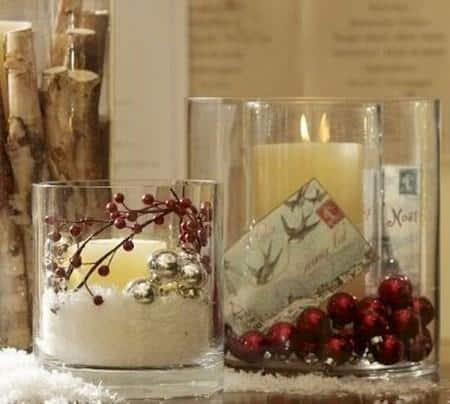 amazing christmas candles and decorations with them 6 20+ Ιδέες Χριστουγεννιάτικης διακόσμησης με κεριά & κηροπήγια