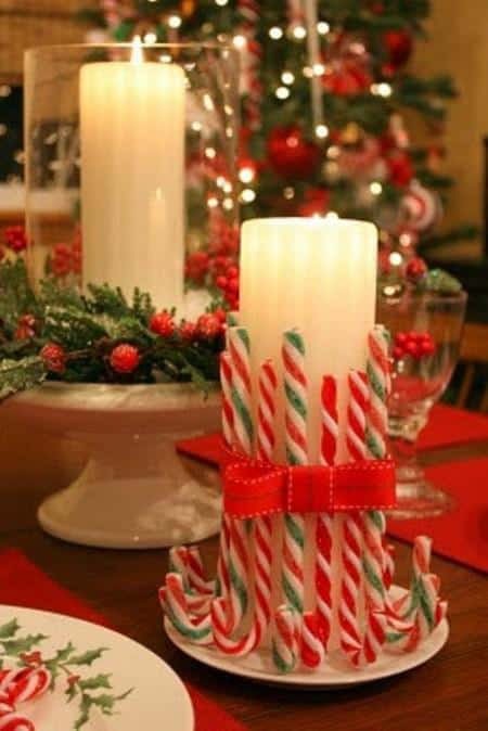 amazing christmas candles and decorations with them 7 20+ Ιδέες Χριστουγεννιάτικης διακόσμησης με κεριά & κηροπήγια