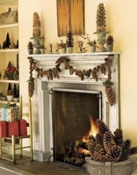 35+ Ιδέες Χριστουγεννιάτικης διακόσμησης με κουκουνάρια πεύκων